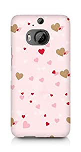 Amez designer printed 3d premium high quality back case cover for HTC One M9+ (Hearts)