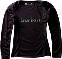 Burton OutLast MidWeight Thermal Womens Crew Top, XLarge - true black