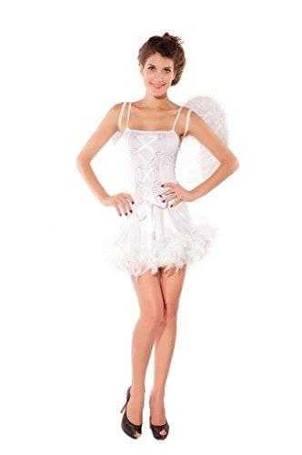 La vogue 3-teilig Engel Schlauch Kleid Corsage Minikleid für Cosplay
