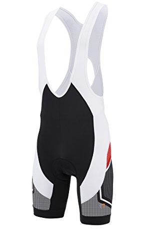 Briko Scuderia Bib Pantaloni Bici, Nero, XL