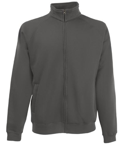 Fruit of the loom mens Sweat jacket - Small - LightGraphite