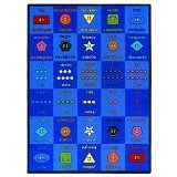 "Joy Carpets Kid Essentials Language & Literacy Button Button Rug, Multicolored, 10'9"" x 13'2"""