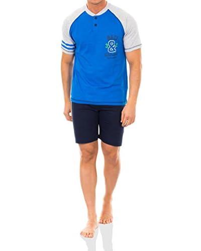 Baci & Abbracci Pijama Azul Royal / Azul Marino