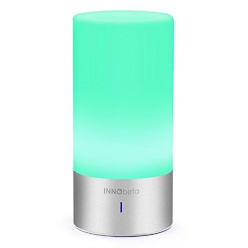Night Light Bluetooth Speaker, InnoBeta Multifunction Color Changing LED Night Light Lamp with Bluetooth Speaker, Decorative Light, Mood Light, Reading Light, Sleep Light, Table Lamp