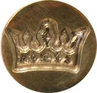 "Crown 3/4"" diameter brass Wax Seal Stamp, hand-engraved in South Africa"