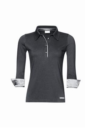 Porsche Women's Polo Shirt in Brown Grey - Size Extra Large