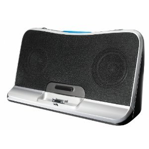 Cyber Acoustics CA-492 Portable Digital Docking Speaker System for iPhone and iPod (Black)