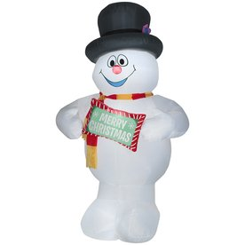 Airblown Holiday Living 10 ft Inflatable Frosty The Snowman with Sign