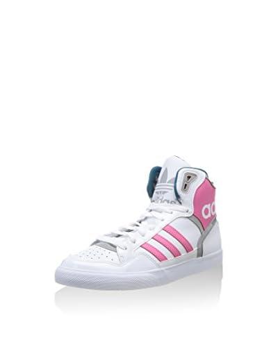 adidas Sneaker Alta Extaball  [Bianco/Rosa]