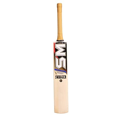 SM Swagger English Willow Junior Cricket Bat, Size 6