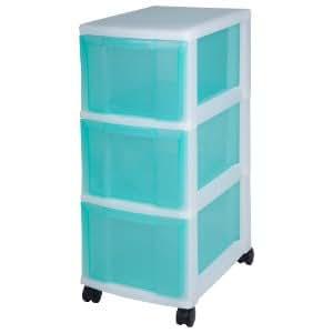 tours de rangement trois tiroirs tour de rangement sur roulettes blanc colonne de rangement 3. Black Bedroom Furniture Sets. Home Design Ideas