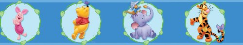 Blue Mountain Wallcoverings DS026251 Pooh Cameo Self-Stick Wall Border, 5-Inch by 15-Foot