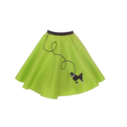 Hip Hop 50S Shop Large Child Poodle Skirt - Size 10,11,12 - Lime Green
