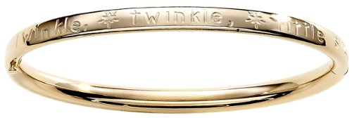 Children's 14k Gold-Filled Polished Guard and Twinkle Little Star Hinge Bangle Bracelet