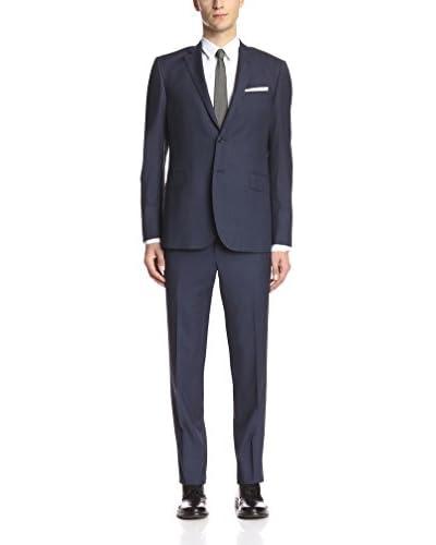 Pierre Balmain Men's Textured 2 Button Slim Fit Suit