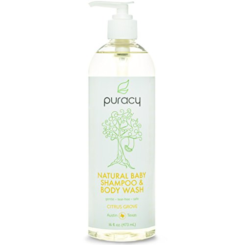 Puracy Natural Baby Shampoo & Body Wash - Sulfate-Free - THE BEST Bubble Bath - Developed By Doctors for Children of All Ages - Gentle - Tear-Free - Hypoallergenic - 16 ounce bottle