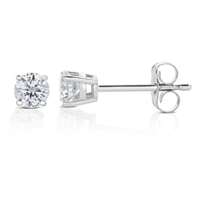 0.40 CT Diamond Stud Earrings 14k Gold
