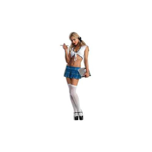 Sexy School Girl (Blue Plaid) Adult Costume Size 2-6 X-Small/Small
