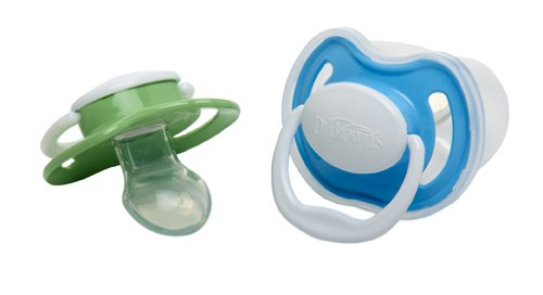 Dr. Brown's Pacifier with Handle, 0-6 Months, Colors May Vary