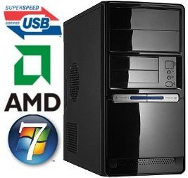 USB3.0 Windows7 Home Premium -MCW Gamer / Multimedia PC mit AMD Quad-Core Phenom2 X4 965 mit 4x 3,4Ghz, 4GB RAM PC1333, 500GB Festplatte, Nvidia Geforce GTX650 1GB (1024MB) VGA/DVI/HDMI, DVD-Brenner, GigaLAN, 5.1 Sound, Cardreader, Windows 7