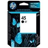 1 X Hewlett Packard 45 Black Print Cartridge for Select HP DeskJet/Officejet/Photosmart/Designjet Printers and Color Copiers (51645A)