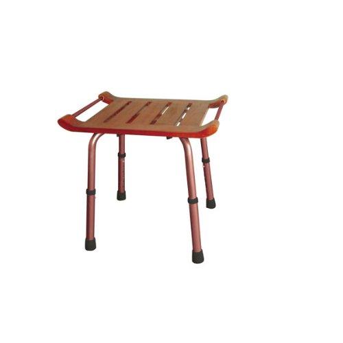 Adjustable Height Teak Bath Bench Stool Option Rectangular
