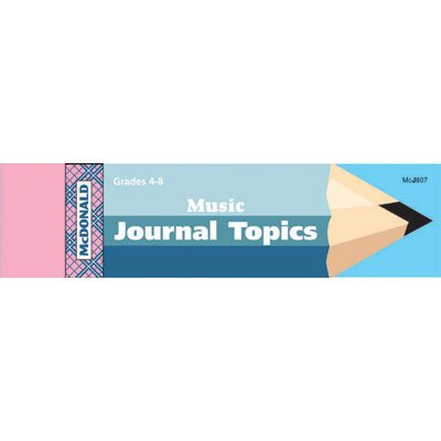 Mcdonald Publishing Mc-j807 Journal Booklet Music