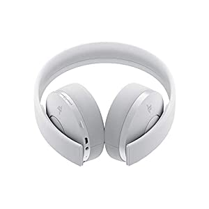 Sony Sony-CUHYA-0080-AMZ1 Playstation Gold Wireless Headset 7.1 Surround Sound PS4 New Version 2018, White Edition (Color: White Edition)