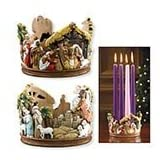 Holy Family Catholic 3.5 Nativity Candle Holder Advent Candle Holder Material: Stoneresin Size: 312 H