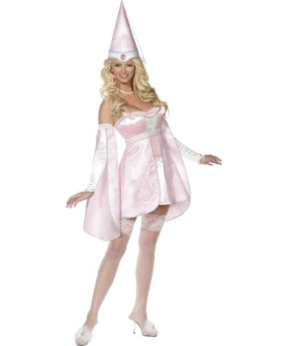 Smiffys Sexy Medieval Princess Pink Corset Outfit Halloween Costume Medium