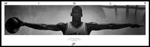 Michael Jordan Wings - Framed Door Poster (Custom Made Black Aluminum Frame) (Size: Approx: 73