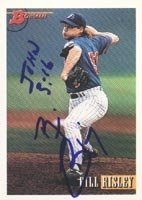 Bill Risley Montreal Expos 1993 Bowman Autographed Hand Signed Trading Card - Minor... by Hall+of+Fame+Memorabilia