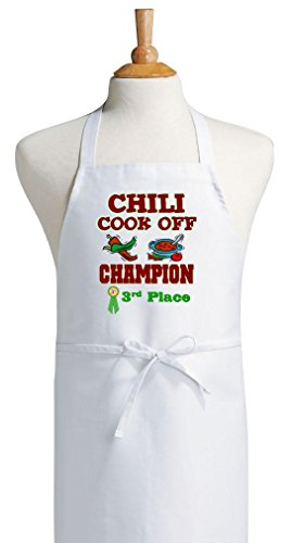 Third Place Chili Cook Off Champion White Bib Aprons (Chili Cook Off Aprons compare prices)