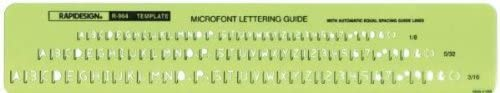 Micro Font Guide Template