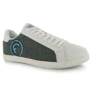 Firetrap Big F Lace Trainers Mens Grey/Blue 10