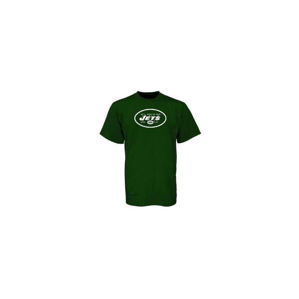 NFL Mens New York Jets T Shirt Logo Premier Tee Shirt, (BLACK 2X LARGE)