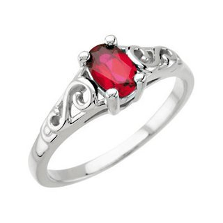 Precious Gift January Youth Birthstone Ring for