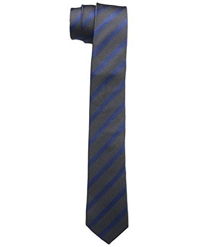Schwarze Rose Cravatta Seta [Blu/Petrolio]