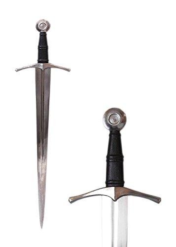 Echtes Mittelalter Schwert aus Metall geschmiedet - Gesamtlänge 90 cm - Ritterschwert aus Stahl