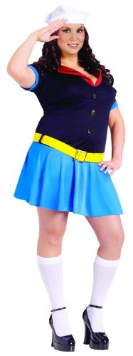 Popeye Ms. Sailor Costume Dress Adult Plus