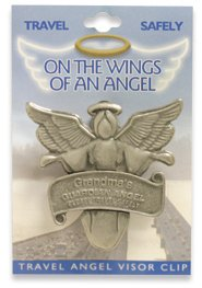 Personalized Guardian Angel Visor Clip
