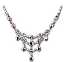 Retro Queen's Style Nobles Red Corundum 925 Sterling Silver Thai Silver Pendant Necklace for Party Global Limited Edition of Only 1