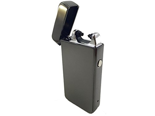 Sale!! Minimalist USB Rechargeable Electric Arc Lighter (Gun Metal Black)