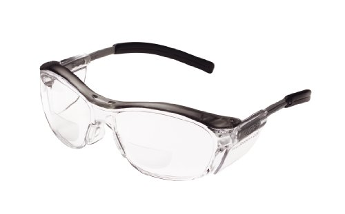 3M Nuvo Reader Protective Eyewear, 11435-00000-20 Clear Lens, Gray Frame, +2.0 Diopter  (Pack of 1) (3m Protective Shield compare prices)