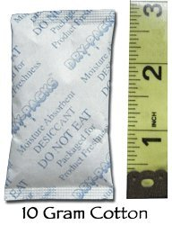 Cheap Dry-Packs 10gm Cotton Silica Gel Packet, Pack of 300 (10Gr.Cotton-300pk)