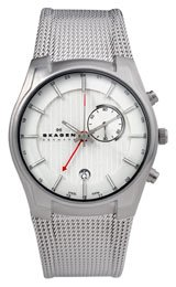 Skagen GMT/Alarm Function Silver Dial Men's watch #853XLSSC