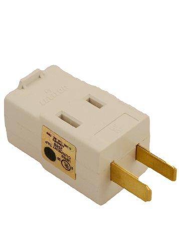 Leviton 531-W 15 Amp, 125 Volt, Triple Outlet Cube Adapter, White