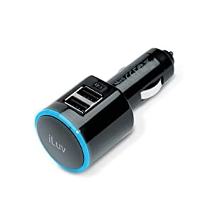 iLuv iAD219 Dual USB Car Charger for Apple iPhone 4/4S, 3G/3GS and All Mobile Devices