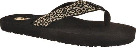 Womens Black Flip Flops front-488596