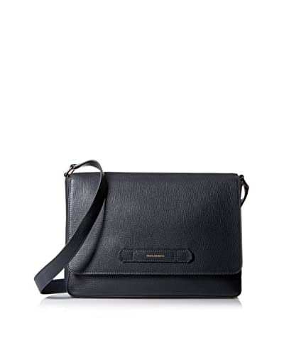 Dolce & Gabbana Men's Textured Leather Messenger, Dark Grey